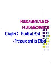 Chapter 2.1 - Pressure Variation in Fluids