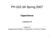 Lecture 9 Ch25