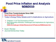 Sept 28 Food Price Inflation (cont)