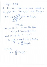 Tangent Plane  Total Differential