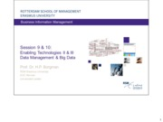 Lecture 10 & 9. Enabling Technologies II and III- Data management & Big Data and Analytics