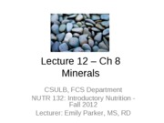 12 Student Ch 8 Minerals