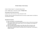 ITM330 Midterm F2014 Review