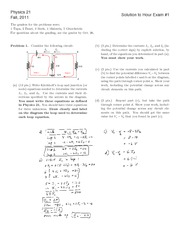 Fall 2011 Exam 1 Solutions