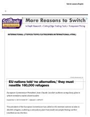 EU Nations told to resettle 160,000 refugees _ Al Jazeera America.pdf