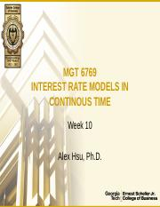 MGT6769_Week10_InterestRateModelsInContinuousTime