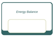 Energy Balance, weight management, eating disorders