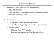 2011 Hazardous Wastes Notes