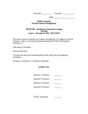 Mgmt 200 Fall 2010 Exam 2 solution