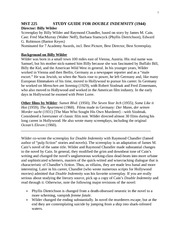 MST 225 WEB SP 2012 STUDY GUIDE FOR DOUBLE INDEMNITY