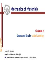Chapter (2)-Axial loading