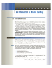 1 An Introduction to Model Building