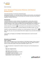 Advanced Polynomial Rational and Radical Relationships.doc