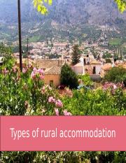 Types of rural accommodation