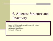 Chapter06- Alkenes- Structure and Reactivity