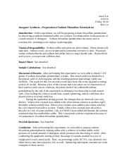 "Inorganic Synthesisâ€""Preparation of Sodium Thiosulfate Pentahydrate.doc.docx"