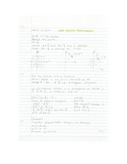 Applied Math - Least Squares Approximation Lecture Note
