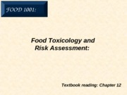 10. Food Toxicology
