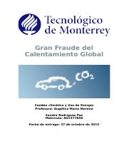 Gran Fraude del Calentamiento Global