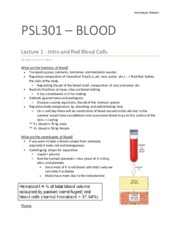 PSL301 Blood and Immunity