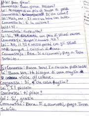 Homework on writing complete sentences in Italian