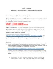 IS2505 F18 Assignment.pdf