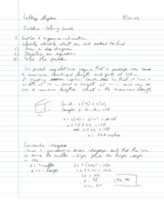 College Algebra Notes - 1.1 - Linear Equations