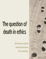 The+question+of+death+in+ethics