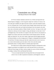 tudor paper 1- Constraints on a King The Royal Power of the Tudors