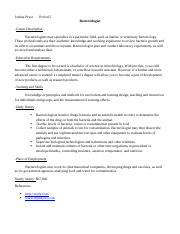 Bacteriologist Career Journal.docx