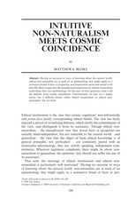 Bedke - Intuitive Non-Naturalism Meets Cosmic Coincidence