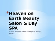 Heaven on Earth Beauty Salon & Day   SPA