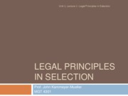1.1-Legal principles in selection