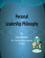 714 - TL - Personal Leadership PowerPoint.pptx