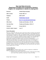 English 1B Syllabus, Section 32