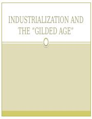 INDUSTRIALIZATION AND THE