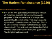 The Harlem Renaissance (1920)