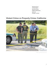 Violent Crime vs Property Crime Report