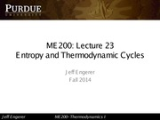 23- Entropy and Thermodyamic Cycles