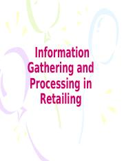 Chapter-8-Information Gathering and Processing in Retailing