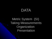 Data,Metrics,Measurement
