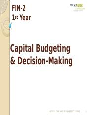 FIN-2Lecture 11-Capital Budgeting and Decision Making_1