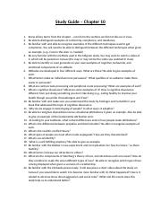 Exam 3 Study Guide.Chapter 10..docx