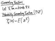 Lecture 11 on Generating Functionology