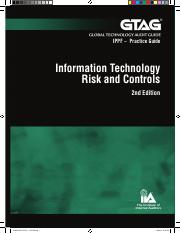 GTAG-1-2nd-Edition IT Risk and Controls
