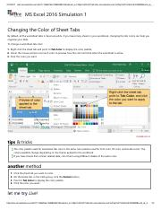 11 - Changing the Color of Sheet Tabs