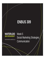 ENBUS 309_Week 5_Communication