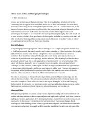 Ethical Issues of New and Emerging Technologies.docx