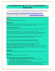 CHAMBERLAIN NR 351 ALL ASSIGNMENTS – NEW 2016.docx
