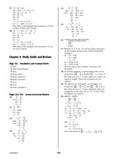 Pre-Calculus Homework Solutions 182